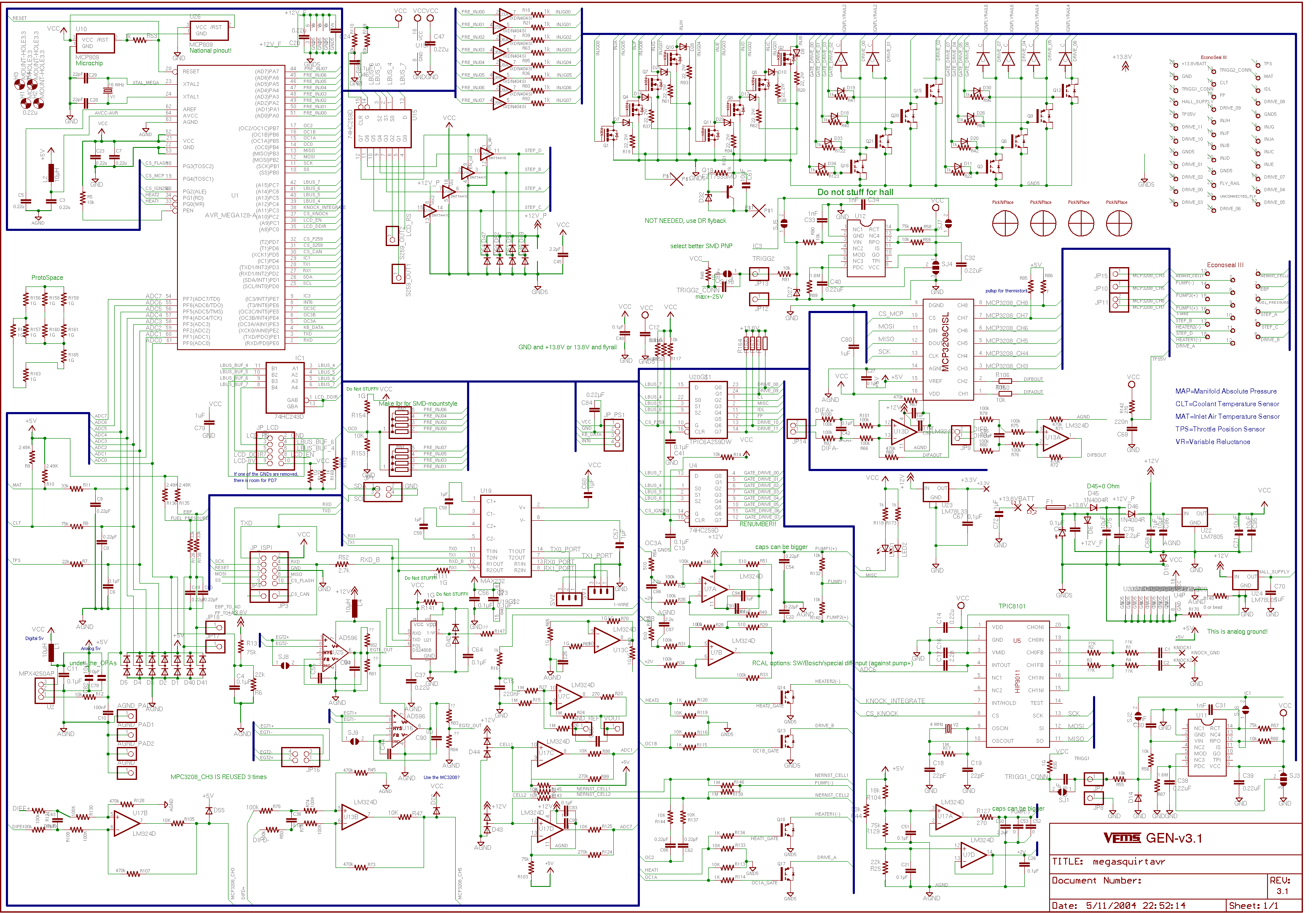 Gen Board/Ver Three/Schematic - VEMS wiki www.vems.hu on circuit diagram, straight-line diagram, data flow diagram, ladder logic, control flow diagram, function block diagram, technical drawing, functional flow block diagram, tube map, piping and instrumentation diagram, electronic design automation, diagramming software, schematic capture, one-line diagram, cross section, block diagram,